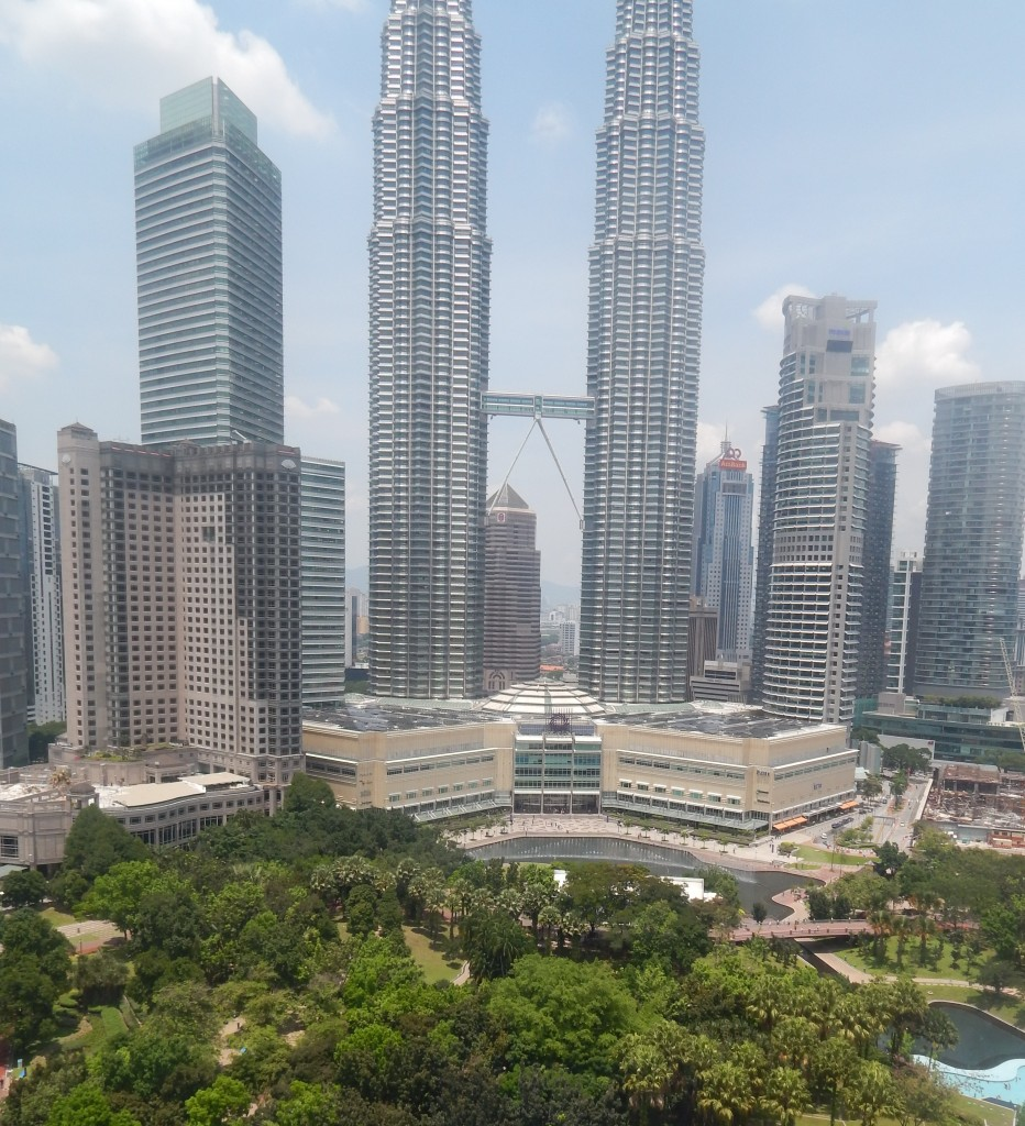 KLCC park with the twin towers behind